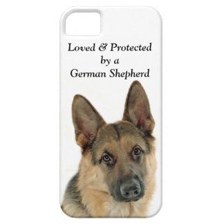 Loved & Protected by a German Shepherd iPhone 5 Case