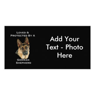Loved & Protected By A German Shepherd Photo Card Template