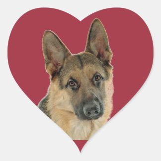 Loved & Protected by a German Shepherd Heart Sticker