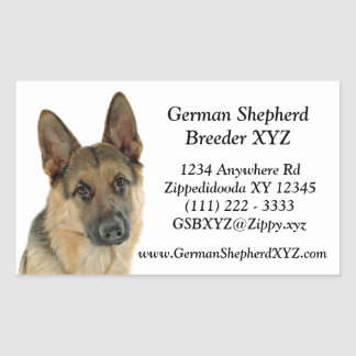Loved & Protected by a German Shepherd Rectangular Sticker