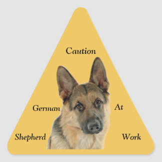 Loved & Protected by a German Shepherd Triangle Sticker