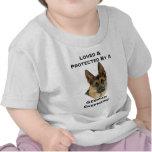 Loved & Protected By A German Shepherd Tshirt
