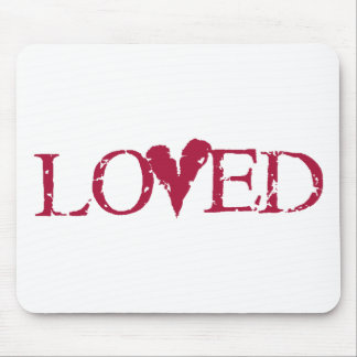 Loved Red Mouse Pad