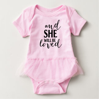 Loved tutu onsie baby bodysuit