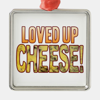 Loved Up Blue Cheese Silver-Colored Square Decoration