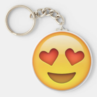 Loved-up Keyring Basic Round Button Key Ring