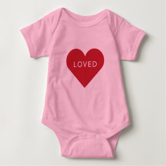 LOVED Valentine Baby Outfit Baby Bodysuit