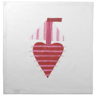 Loveheart Boat Cloth Napkins