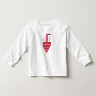 Loveheart Boat No Background Kid's Jumper Toddler T-Shirt
