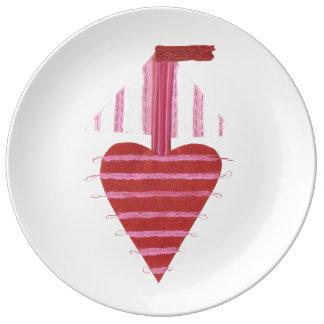 Loveheart Boat Porcelain Plate
