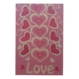 Lovehearts 24 Inch x 36 Inch Wood Wall Art