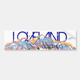 Loveland Colorado artistic mountain sticker Bumper Sticker