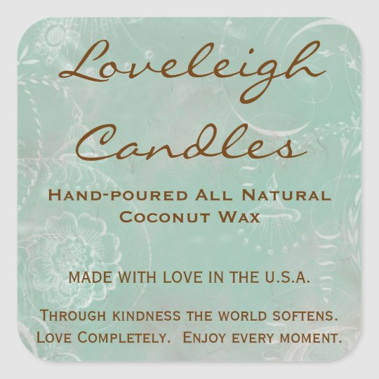 Loveleigh Custom Product Labels with Vintage Toile