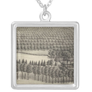 Loveless Farm, Nebraska Silver Plated Necklace