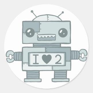 Loveless Robot Round Sticker