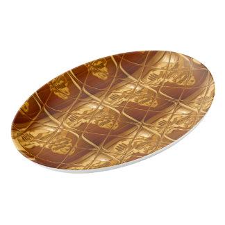 Lovely Africa Golden Brown Mama Africa Colors Porcelain Serving Platter