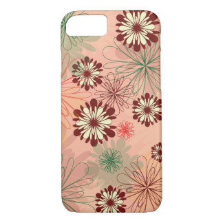 Lovely and Chic Peach Floral iPhone 7 Case