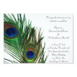 Lovely and Elegant White Peacock Wedding 13 Cm X 18 Cm Invitation Card