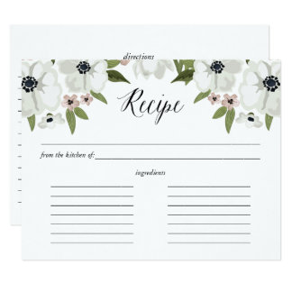 Lovely Anemones Recipe Card