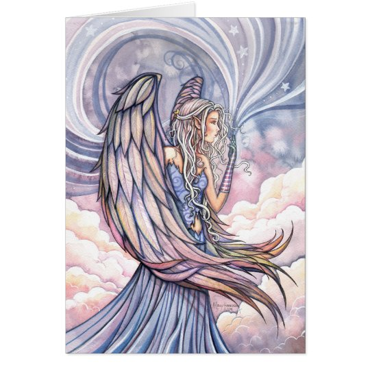 Lovely Angel Card Holiday Art by Molly Harrison