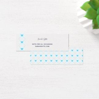 Lovely Argyle Mini Business Card