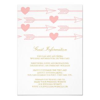 Lovely Arrows Wedding Insert Card / Blush & Gold