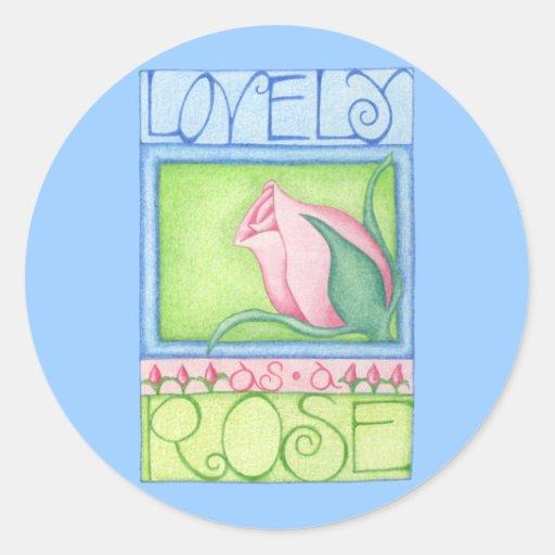 Lovely as a Rose Sticker