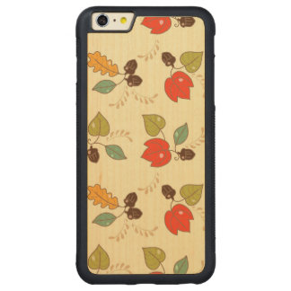 Lovely Autumn Floral Theme Carved® Maple iPhone 6 Plus Bumper