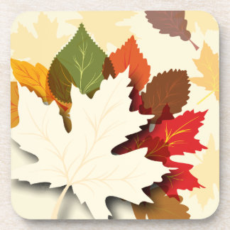 Lovely Autumn Leaves Drink Coaster