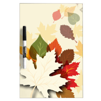 Lovely Autumn Leaves Dry Erase Whiteboards