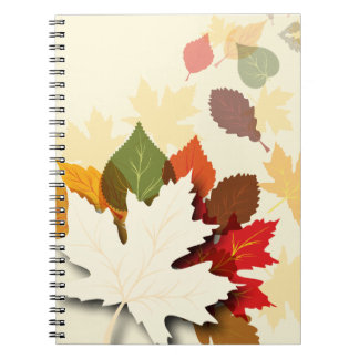 Lovely Autumn Leaves Spiral Note Books