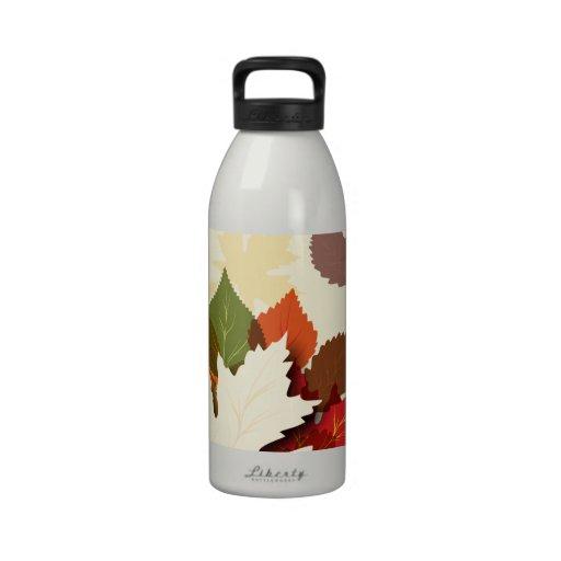 Lovely Autumn Leaves Reusable Water Bottles