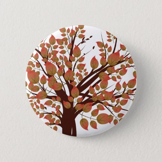 Lovely Autumn Tree 6 Cm Round Badge