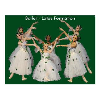 Lovely Ballet Lotus Formation Card Postcard