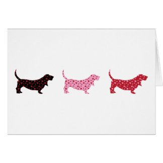 Lovely Bassets Greeting Card