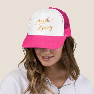 Lovely Beach Bunny Stylized Peach Color Cap