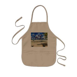Lovely beach kids apron