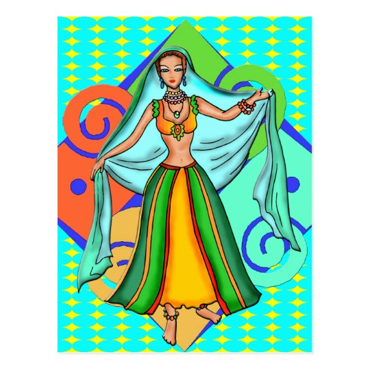 Lovely Belly Dancing Girl Postcard