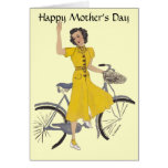 Lovely Bike Lady Greeting Cards
