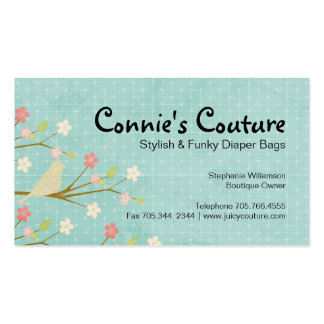 Lovely Bird and Floral Business Card