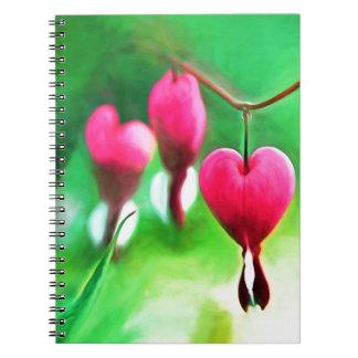 Lovely Bleeding Hearts Spiral Notebook