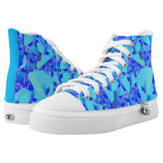 Lovely Blue Confetti High Tops