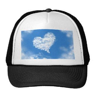 Lovely blue heaven heart shaped sky healing love mesh hats