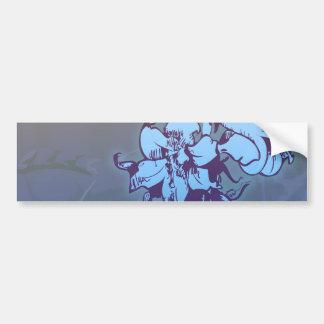 lovely blue wild flowers design bumper sticker