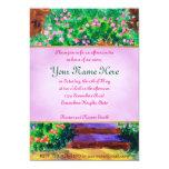 Lovely Blue Wooden Door to Secret Rose Garden 13 Cm X 18 Cm Invitation Card