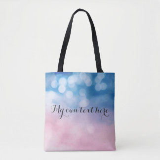 Lovely bockeh bag with your own text tote bag