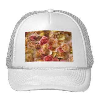 Lovely Bridal Roses Cap For The Bride at Shower Hats
