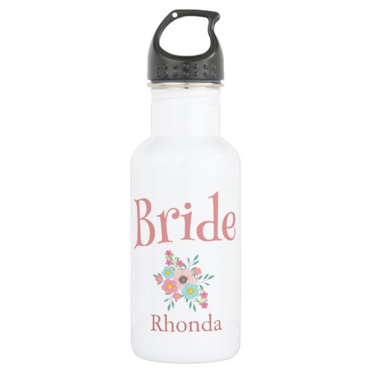 Lovely Bride with bouquet 532 Ml Water Bottle