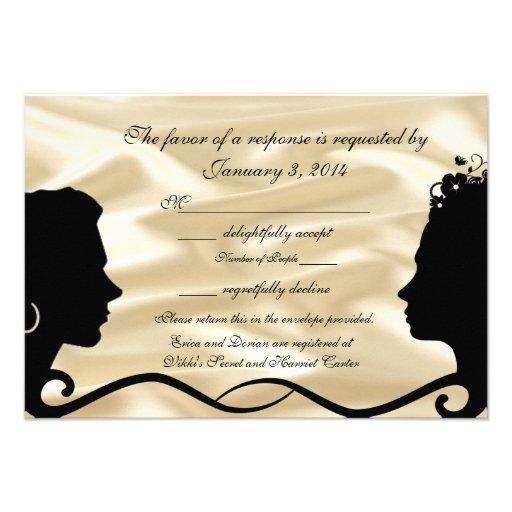 Lovely Brides Custom RSVP Cards