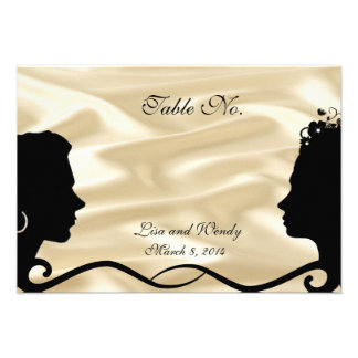 Lovely Brides Custom RSVP Cards No Numbers